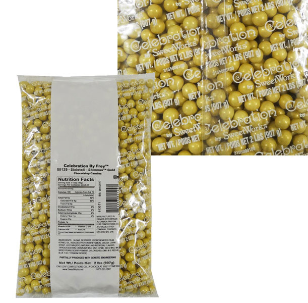 Sixlets - Shimmer Gold #80129, by Sixlets,  and more Confectionery at The Professors Online Lolly Shop. (Image Number :9052)
