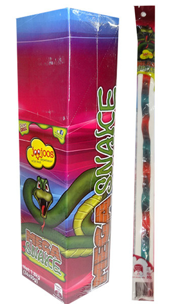 Joo Joos Mega Snakes - Individually Wrapped, by Joo Joo's,  and more Confectionery at The Professors Online Lolly Shop. (Image Number :9838)