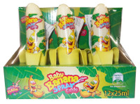 Baby Banana Candy Spray, by Sweet Flash,  and more Confectionery at The Professors Online Lolly Shop. (Image Number :9172)