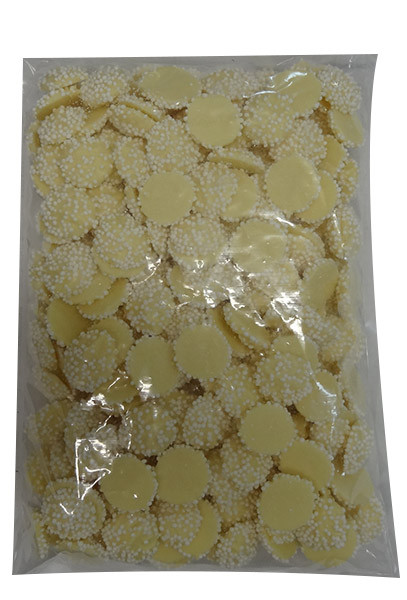 Custom Choc - White Choc Jewels with White Speckles, by Custom Choc,  and more Confectionery at The Professors Online Lolly Shop. (Image Number :9668)