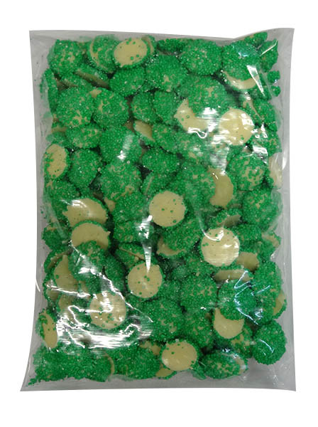 Custom Choc - White Choc Jewels with Green Speckles, by Custom Choc,  and more Confectionery at The Professors Online Lolly Shop. (Image Number :9667)