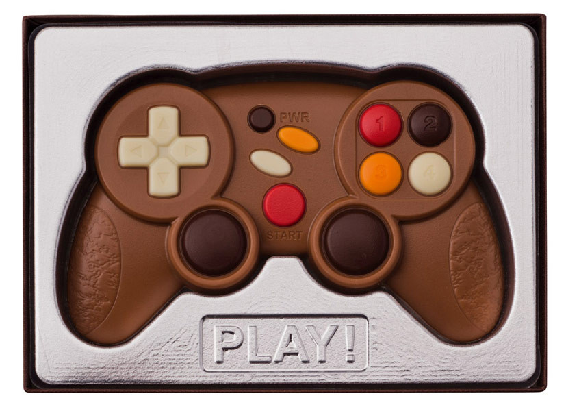 Weibler Confiserie Game Controller - Milk Chocolate, by weibler confiserie,  and more Confectionery at The Professors Online Lolly Shop. (Image Number :9244)