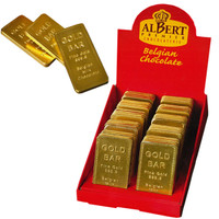 Albert Gold Bullion Bars, by AlBert Premier Chocolatrie,  and more Confectionery at The Professors Online Lolly Shop. (Image Number :9199)