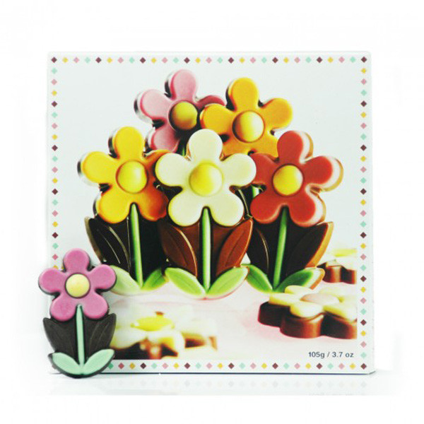 Belgian Chocolate Flower Box, by Dolfin,  and more Confectionery at The Professors Online Lolly Shop. (Image Number :9205)