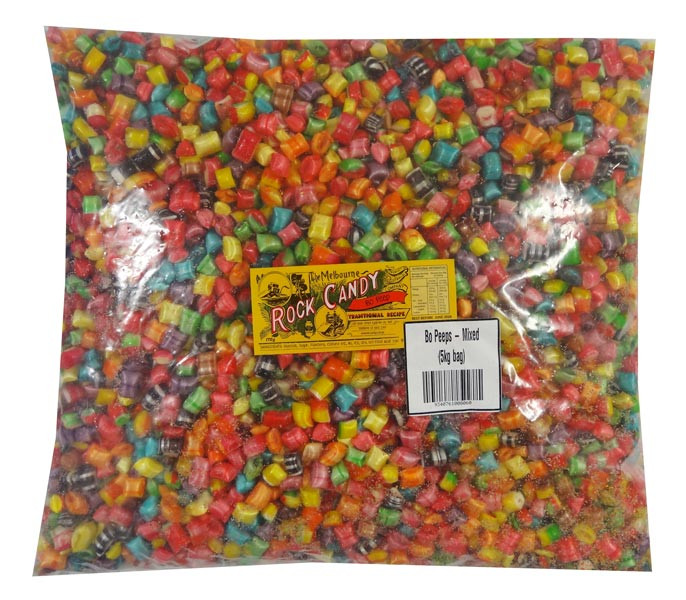 Bo Peeps - Mixed Colours, by The Melbourne Rock Candy Co,  and more Confectionery at The Professors Online Lolly Shop. (Image Number :9467)