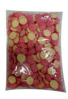 Custom Choc - White Choc Jewels with Pink Speckles, by Custom Choc,  and more Confectionery at The Professors Online Lolly Shop. (Image Number :9663)