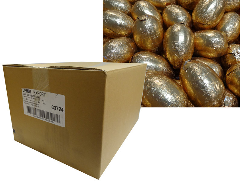Cemoi Gold Foiled Milk Chocolate Eggs, by Cemoi,  and more Confectionery at The Professors Online Lolly Shop. (Image Number :9586)