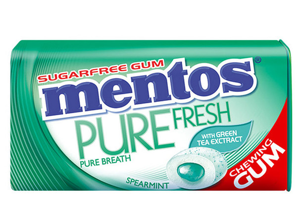 Mentos Sugar Free Gum - Pure Fresh - Spearmint, by Perfetti Van Melle,  and more Confectionery at The Professors Online Lolly Shop. (Image Number :9312)