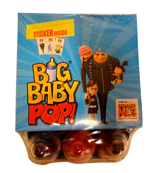 Big Baby Pop - Despicable Me 3  Edition, by Myriad Marketing,  and more Confectionery at The Professors Online Lolly Shop. (Image Number :10535)