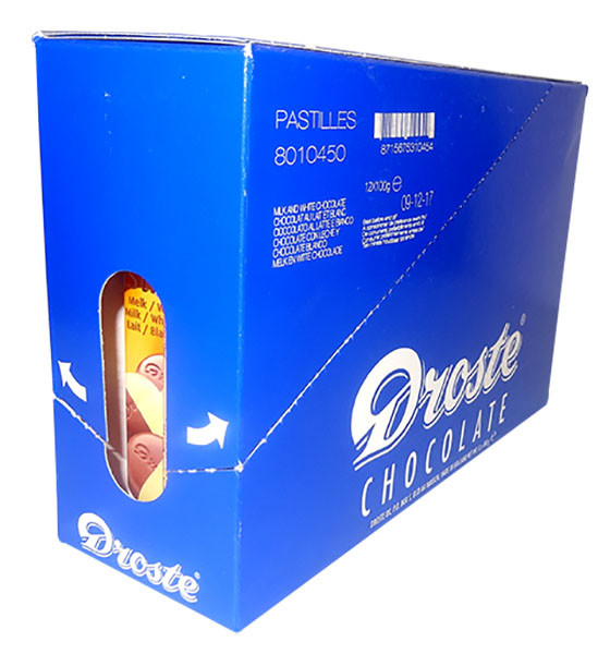 Droste Rolls White / Milk Chocolate and more Confectionery at The Professors Online Lolly Shop. (Image Number :9763)