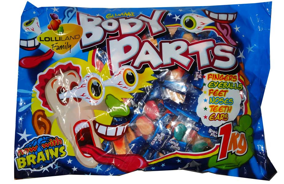 Lolliland Gummi Body Parts, by Lolliland,  and more Confectionery at The Professors Online Lolly Shop. (Image Number :9322)