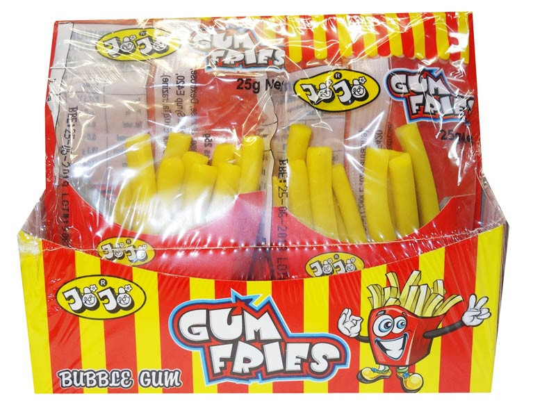 JoJos Gum Fries Bubble Gum, by JoJo,  and more Confectionery at The Professors Online Lolly Shop. (Image Number :9539)