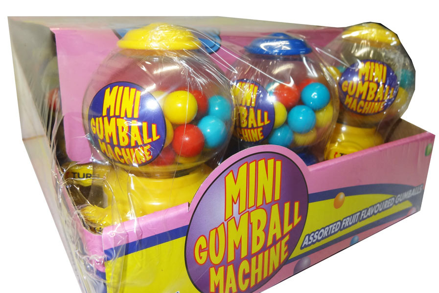 Mini Gumball Machine and more Confectionery at The Professors Online Lolly Shop. (Image Number :9538)