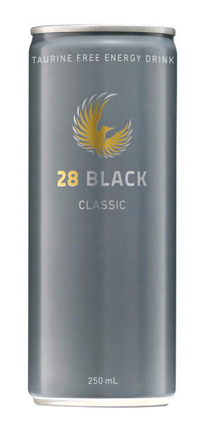 28 Black Energy Drink - Classic, by 28 Black,  and more Beverages at The Professors Online Lolly Shop. (Image Number :9347)