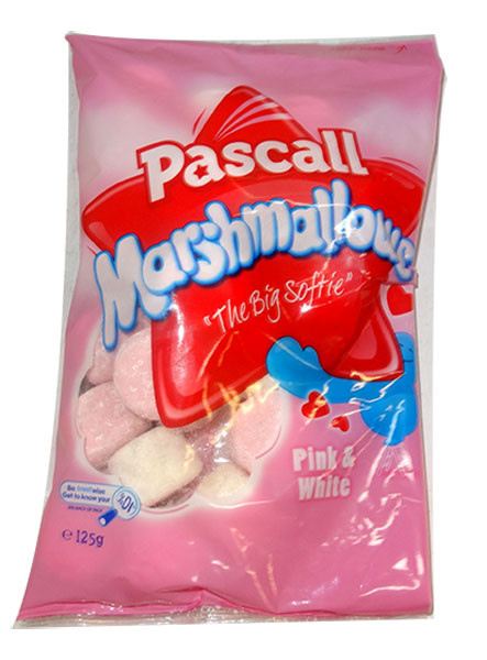 Pascall Marshmallows - Raspberry and Vanilla, by Pascall,  and more Confectionery at The Professors Online Lolly Shop. (Image Number :9846)