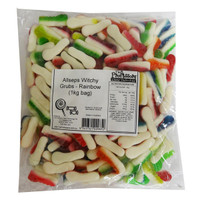 Allseps Witchy Grubs - Rainbow (1kg bag)