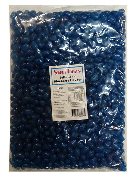Sweet Treats Mini Jelly Beans - Dark Blue with a Blueberry Flavour, by Brisbane Bulk Supplies,  and more Confectionery at The Professors Online Lolly Shop. (Image Number :9735)