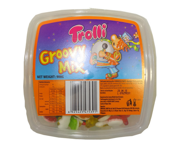 Trolli Groovy Mix Tub, by Trolli,  and more Confectionery at The Professors Online Lolly Shop. (Image Number :9503)