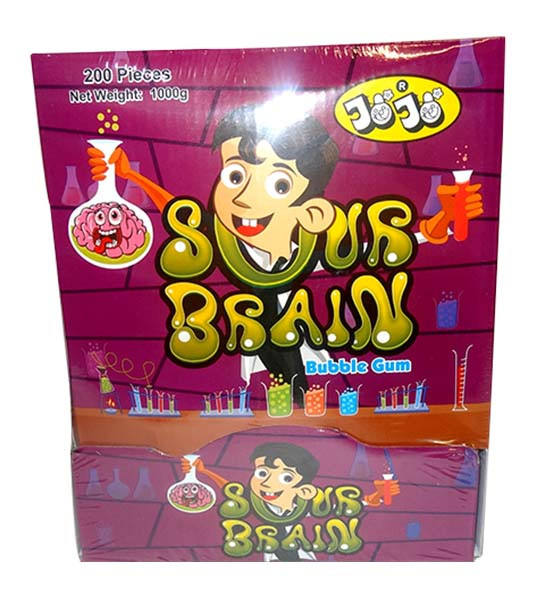 JoJo Sour Brains Bubble Gum, by JoJo,  and more Confectionery at The Professors Online Lolly Shop. (Image Number :9771)