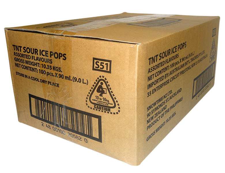 TNT Sour Ice Pops, by AIT Confectionery,  and more Snack Foods at The Professors Online Lolly Shop. (Image Number :9857)