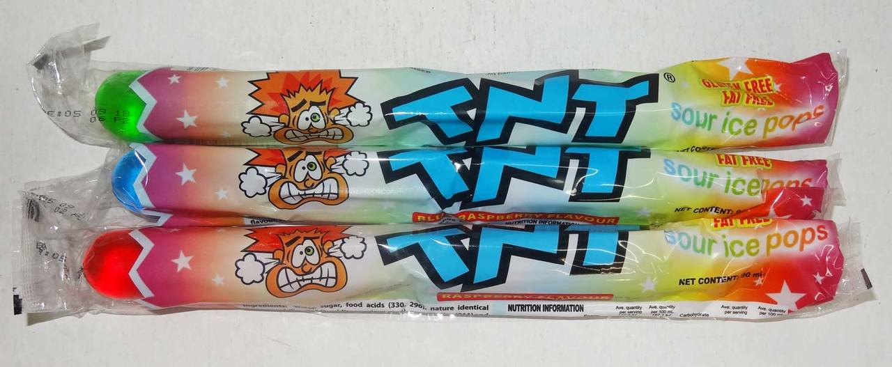 TNT Sour Ice Pops, by AIT Confectionery,  and more Snack Foods at The Professors Online Lolly Shop. (Image Number :9858)
