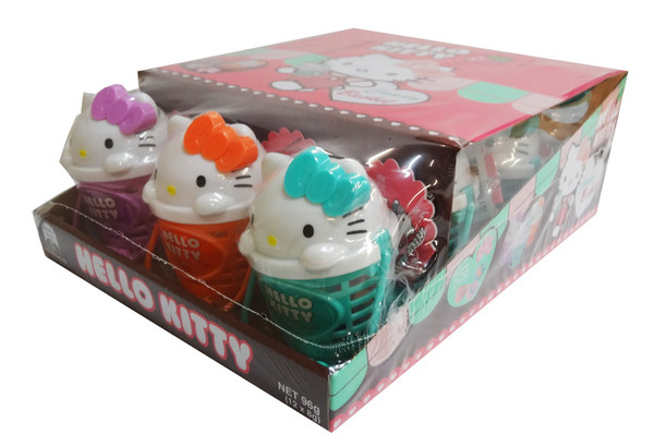 Hello Kitty Candy Baskets - Hard Candy + Toy Ring and more Confectionery at The Professors Online Lolly Shop. (Image Number :9617)