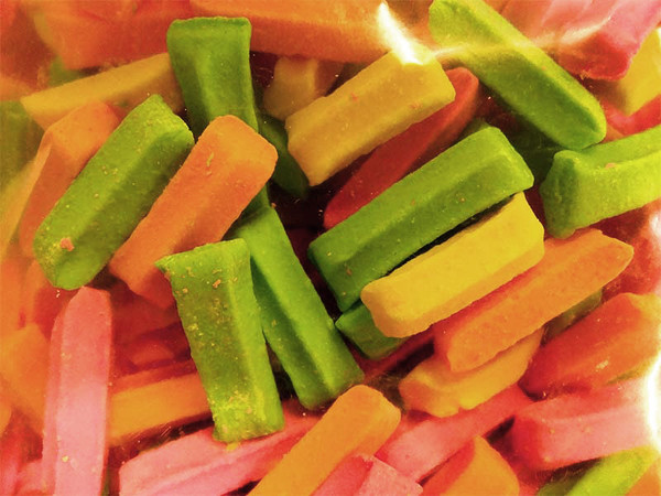 Premium Mini Fruit Sticks - Assorted, by Cooks Confectionery,  and more Confectionery at The Professors Online Lolly Shop. (Image Number :10404)