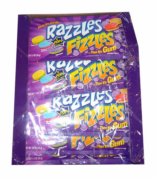 Razzles - Fizzles, by Tootsie Roll Industries,  and more Confectionery at The Professors Online Lolly Shop. (Image Number :9905)