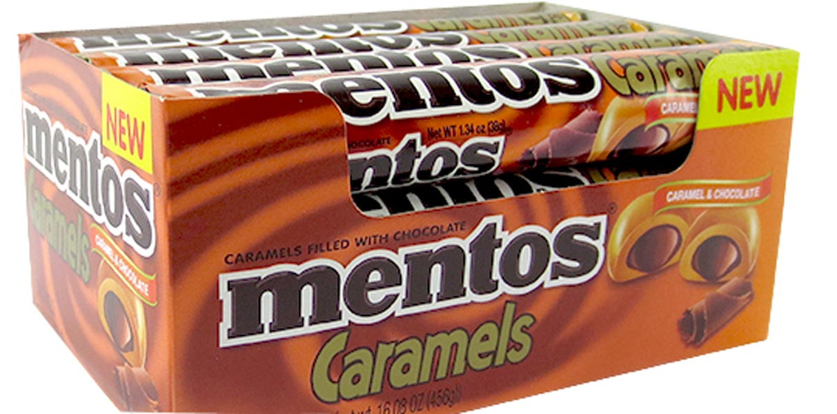 Mentos Choco Roll - Caramel, by Perfetti Van Melle,  and more Confectionery at The Professors Online Lolly Shop. (Image Number :9931)