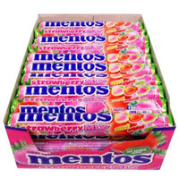 Mentos Strawberry Mix at The Professors Online Lolly Shop. (Image Number :9933)