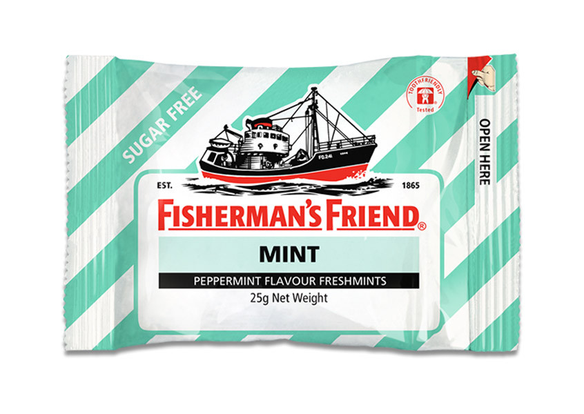 Fishermans Friend - Mint - Peppermint Sugar Free, by Lofthouse,  and more Confectionery at The Professors Online Lolly Shop. (Image Number :9875)