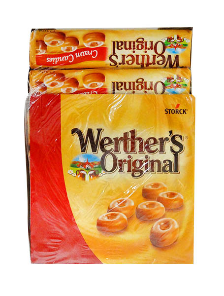 Werthers Original - Classic Cream Candies Rolls, by Storck,  and more Confectionery at The Professors Online Lolly Shop. (Image Number :10769)