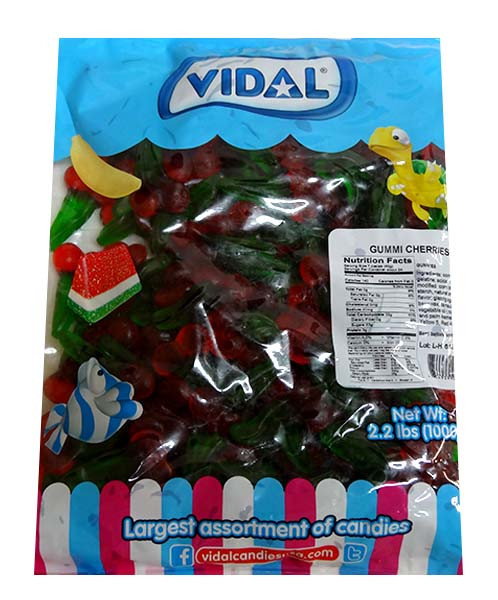 Vidal Double Cherries at The Professors Online Lolly Shop. (Image Number :10083)