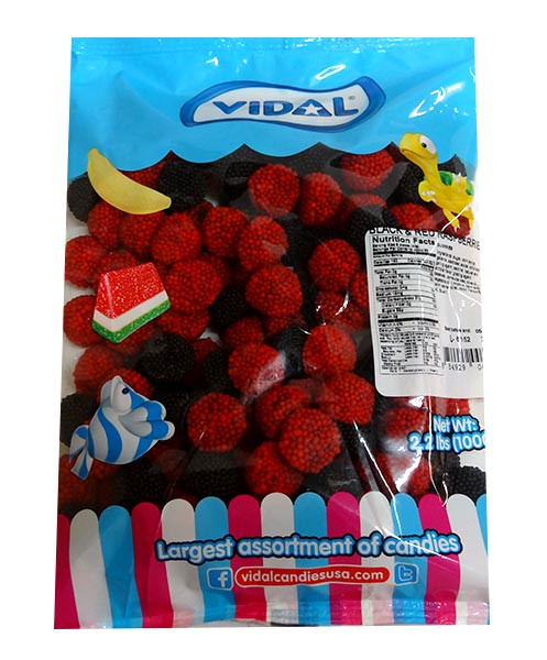 Vidal Raspberry and Blackberry, by vidal,  and more Confectionery at The Professors Online Lolly Shop. (Image Number :10080)