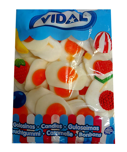 Vidal Giant Fried Eggs, by vidal,  and more Confectionery at The Professors Online Lolly Shop. (Image Number :10076)