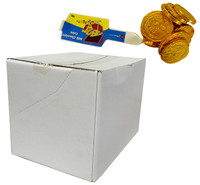 Lolliland Milk Chocolate Coins - Gold (75g bag x 40pc box)