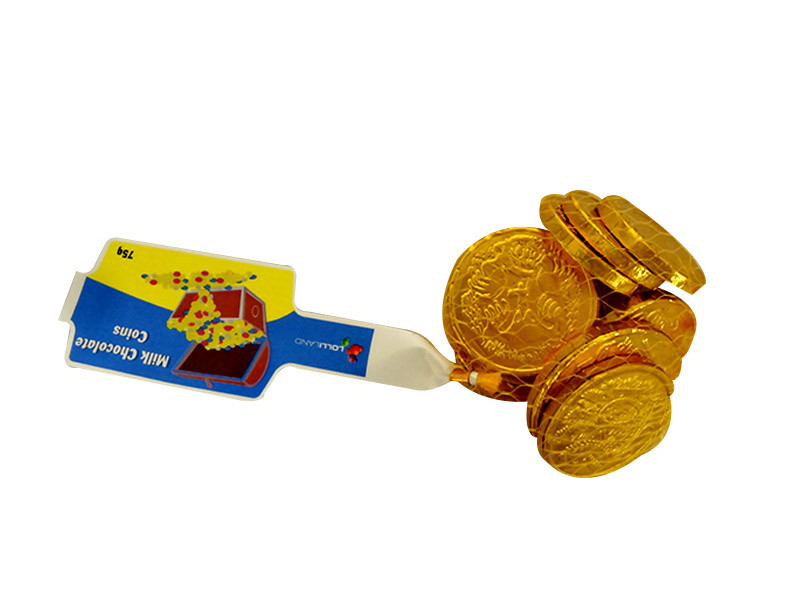 Lolliland Milk Chocolate Coins - Gold, by Lolliland,  and more Confectionery at The Professors Online Lolly Shop. (Image Number :10400)