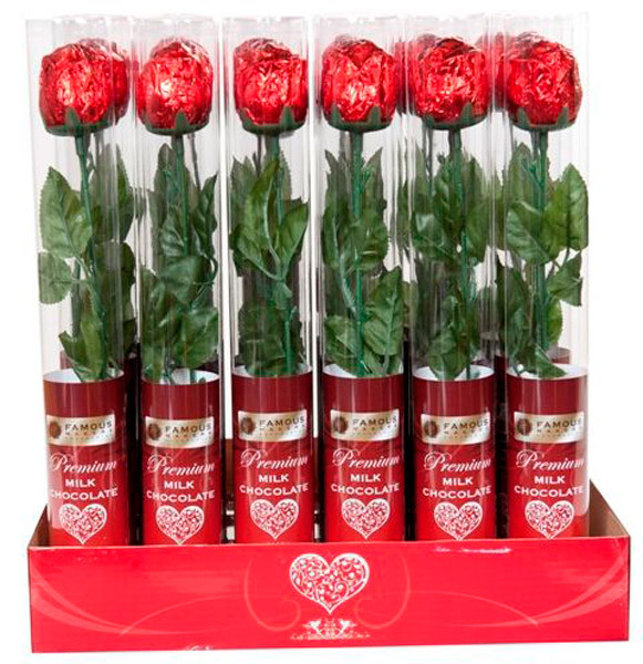 Famous Makers Milk Chocolate Rose Cylinder And Other