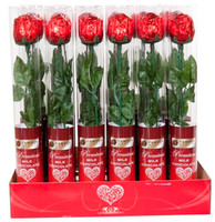 Famous Makers Milk Chocolate Rose Cylinder (18g x 24pc box)