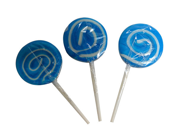 Mini Swirl Pops - Blue and White and more Confectionery at The Professors Online Lolly Shop. (Image Number :10158)