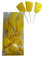 Mini Baby Foot Pops - Yellow and more Confectionery at The Professors Online Lolly Shop. (Image Number :10129)