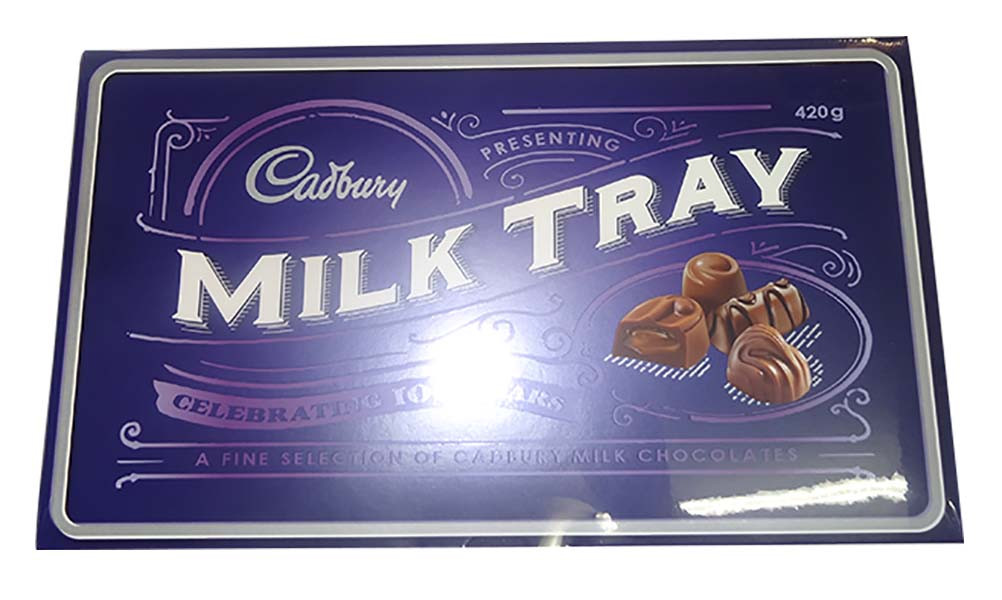 Cadbury Single Milk Tray Large, by Cadbury,  and more Confectionery at The Professors Online Lolly Shop. (Image Number :10206)
