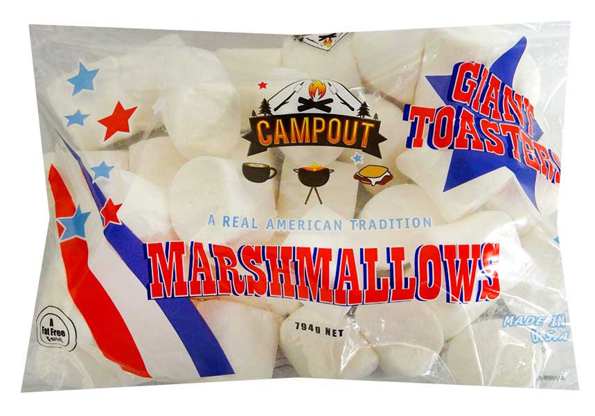 Campfire Giant Marshmallows and more Confectionery at The Professors Online Lolly Shop. (Image Number :13095)
