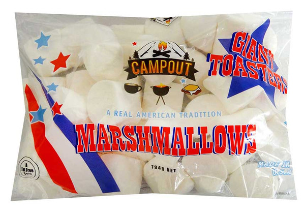 CampOut Giant Marshmallows - White and more Confectionery at The Professors Online Lolly Shop. (Image Number :13095)