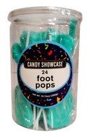 Candy showcase Foot Pops - Blue (24 x  12g pops in a tub)