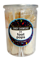 Candy showcase Foot Pops - White (24 x  12g pops in a tub)