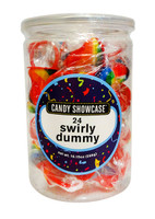 Candy showcase Mini Dummy Pop - Rainbow (24 x  12g pops in a tub)