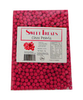 Sweet Treats Choc Pearls - Pink (1kg bag)