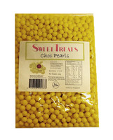Sweet Treats Choc Pearls - Yellow and more Confectionery at The Professors Online Lolly Shop. (Image Number :10492)