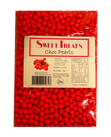Sweet Treats Choc Pearls - Red (1kg bag)